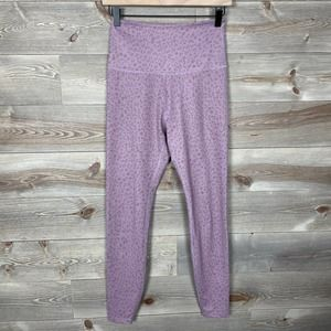 Beyond Yoga Barre3 Printed High Rise Pink Leggings